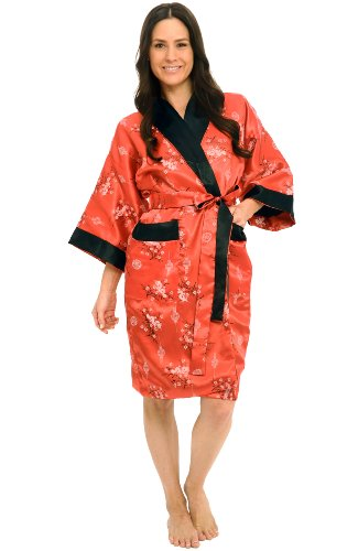 Reversible, unisex red dragon robe
